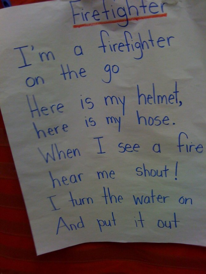 Community helper unit - firefighter song | book ideas for kids