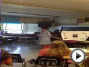 A 5th grader book report presentation on …