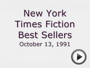 Best Selling Books October 13, 1991